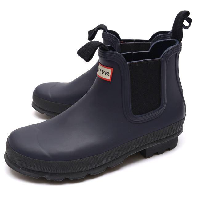 HUNTER ハンター メンズ ブーツ Men's Original Chelsea オリジナル チェルシー HUW25659-MDN [長靴/レインシューズ/ラバー/ネイビー/ゴム/ショート/サイドゴア/国内正規販売店]