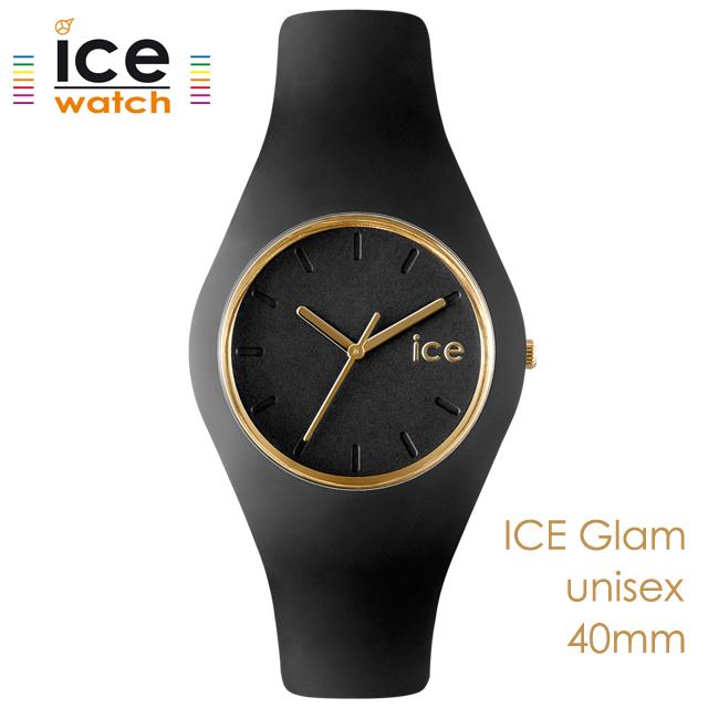 ice watch アイスウォッチ メンズ レディース 腕時計 ICE Glam アイスグラム ブラック ユニセックス 000918 [シリコンストラップ/女性/男性/スタイリッシュ/黒/国内正規販売店/Authorized Dealer]