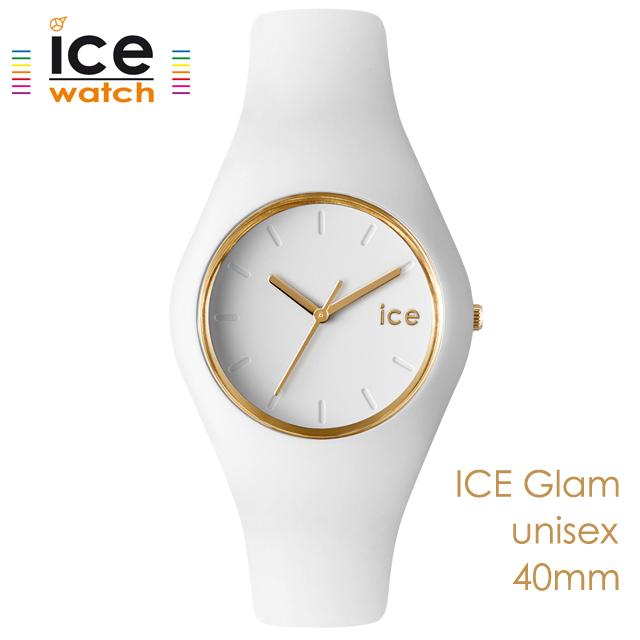 ice watch アイスウォッチ メンズ レディース 腕時計 ICE Glam アイスグラム ホワイト ユニセックス 000917 [シリコンストラップ/女性/男性/エレガント/白/国内正規販売店/Authorized Dealer]
