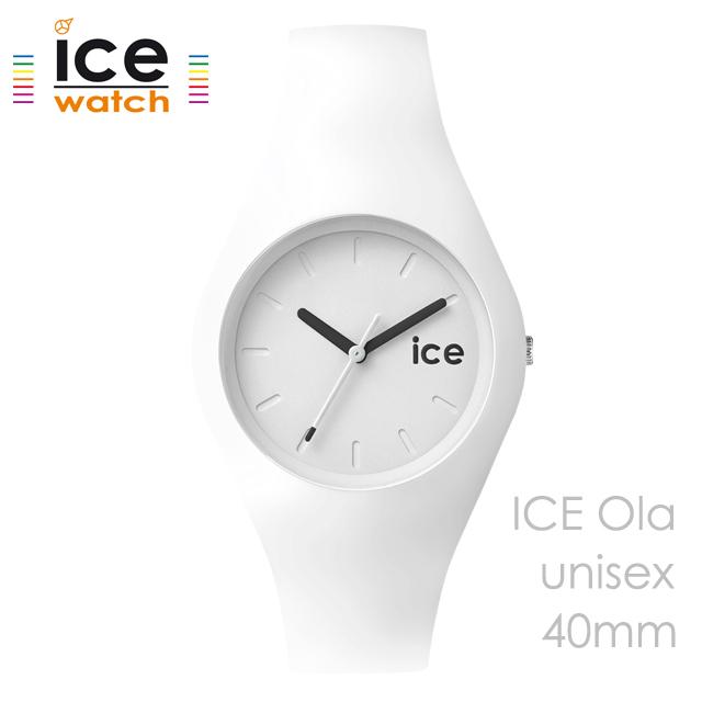 ice watch アイスウォッチ メンズ レディース 腕時計 ICE Ola ホワイト ユニセックス 001227 [シリコンストラップ/シンプル/女性/男性/白/国内正規販売店/Authorized Dealer]