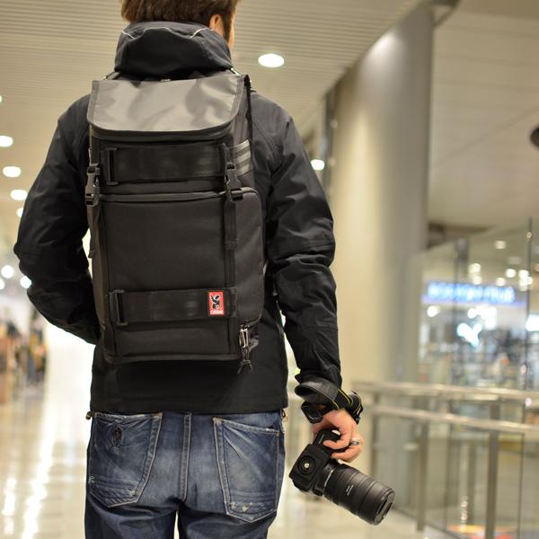 CHROME NIKO PACK カメラバッグ バックパック 一眼レフ おしゃれ クローム ニコパック Black/Black CR153BK0000