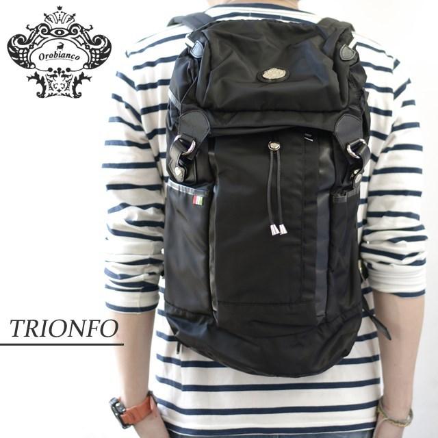 Orobianco オロビアンコ バッグ TRIONFO-C クロ/クロ [ブラック/ナイロン/イタリア製/リュック/デイパック/プレゼント]