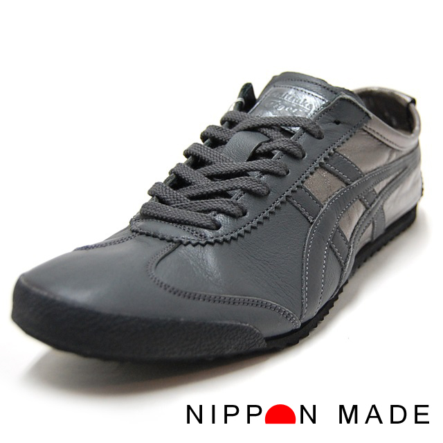 Onitsuka Tiger オニツカタイガー メンズ スニーカー NIPPON MADE MEXICO66 DELUXE ガンメタル×ダークグレー TH4Y0L-7516 [日本製/MADE IN JAPAN]
