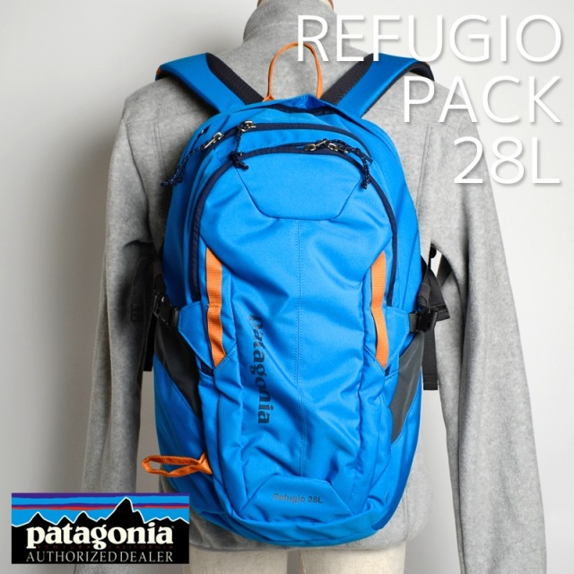 Patagonia パタゴニア バッグ バックパック リュック REFUGIO PACK 28L  Andes Blue ブルー 47911-ANDB [アウトドア/旅行/デイパック/国内正規販売店]