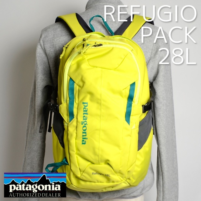 Patagonia パタゴニア バッグ バックパック リュック REFUGIO PACK 28L Chartreuse 47911-CHRT [イエロー/アウトドア/旅行/デイパック/国内正規販売店]
