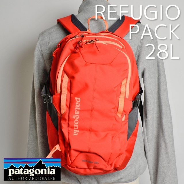 Patagonia パタゴニア バッグ バックパック リュック REFUGIO PACK 28L Turkish Red レッド 47911-THR [アウトドア/旅行/デイパック/国内正規販売店]