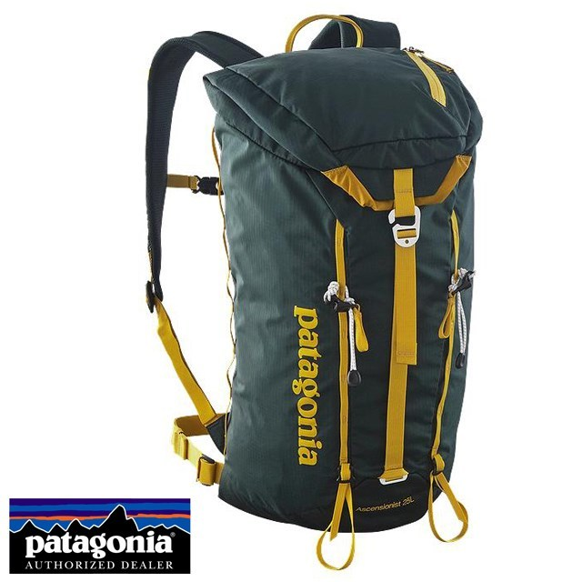 Patagonia パタゴニア バッグ バックパック リュック ASCENSIONIST PACK 25L アセンジョニスト・パック 25L Carbon カーボン 47960-CAN [グリーン/アウトドア/トラベル/旅行/デイパック/通学/通勤/国内正規販売店/Authorized Dealer]