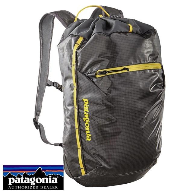 Patagonia パタゴニア バッグ バックパック リュック Lightweight Black Hole Cinch Pack 20L ライトウェイト ブラックホール シンチ パック 20L Forge Grey w/Chromatic Yellow グレー/イエロー 49040-FGCY [アウトドア/旅行/デイパック/撥水/軽量]