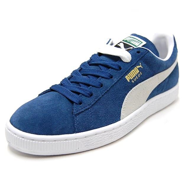 PUMA プーマ メンズ レディース スニーカー Suede Classic+ スウェードクラシック+ ENSIGN BLUE/WHITE 352634-01 [ブルー/スエード/定番/ローカット]