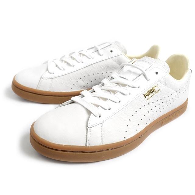 PUMA プーマ メンズ スニーカー PUMA Court Star ANML Leather  コートスター アニマル レザー WHITE/WHITE 357255-01 [ホワイト/白/レザー/ローカット/テニス]
