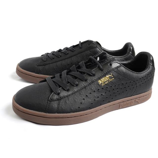 PUMA プーマ メンズ スニーカー PUMA Court Star ANML Leather コートスター アニマル レザー BLACK/BLACK 357255-04 [ブラック/黒/レザー/ローカット/テニス]