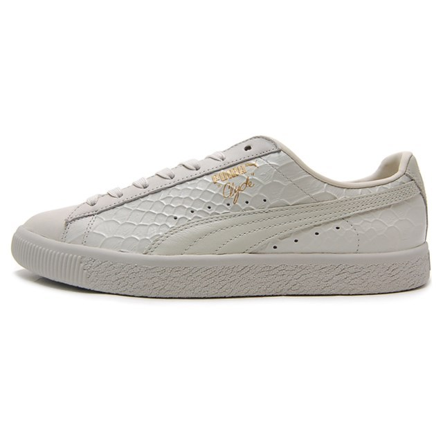 PUMA プーマ CLYDE DRESSED クライド Whisper White ウィスパーホワイト 361704-02 [取扱店舗限定/LIMITED EDITION/FINEBOYS掲載/レザー/クロコ柄/国内正規販売店/Authorized Dealer]