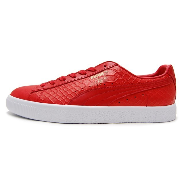 PUMA プーマ メンズ スニーカー CLYDE DRESSED クライド High Risk Red ハイリスクレッド 361704-03 [取扱店舗限定/LIMITED EDITION/FINEBOYS掲載/レザー/クロコ柄/国内正規販売店/Authorized Dealer]