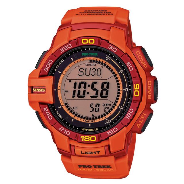 PRO TREK プロトレック CASIO カシオ PRG-270-4AJF 腕時計 登山 ファッション ソーラー トリプルセンサー(方位計測 高度計測 気圧計測 温度計測 ) メンズ 腕時計 デジタル ウレタンバンド