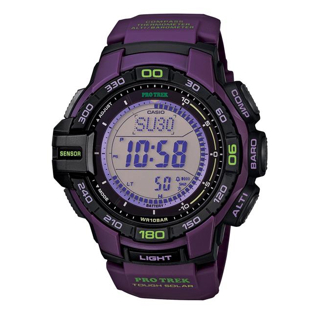PRO TREK プロトレック CASIO カシオ PRG-270-6AJF 腕時計 登山 ファッション ソーラー トリプルセンサー(方位計測 高度計測 気圧計測 温度計測 ) メンズ 腕時計 デジタル ウレタンバンド