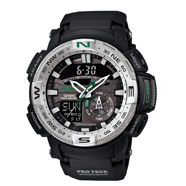 PRO TREK プロトレック CASIO カシオ PRG-280-1JF 腕時計 登山 ファッション ツインセンサー(方位計測 温度計測) メンズ 腕時計 デジタル ウレタンバンド