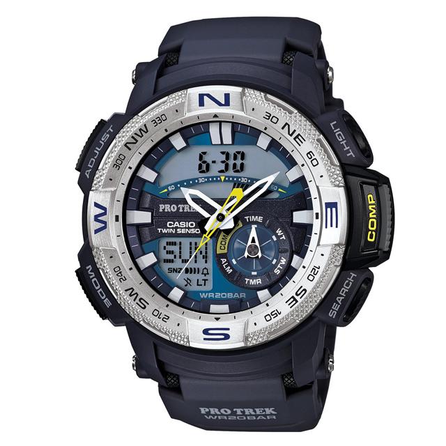 PRO TREK プロトレック CASIO カシオ PRG-280-2JF 腕時計 登山 ファッション ツインセンサー(方位計測 温度計測) メンズ 腕時計 デジタル ウレタンバンド
