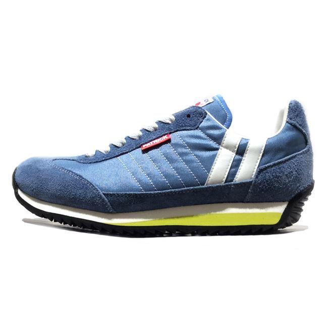 PATRICK パトリック メンズ レディース スニーカー MARATHON マラソン RIVER 94716 [ブルー/ベロア/カジュアル/MADE IN JAPAN/日本製]