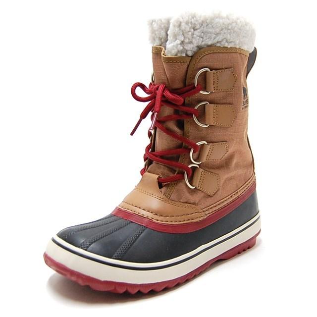 SOREL ソレル レディース ブーツ WINTER CARNIVAL ウィンターカーニバル ELK,RED DAHLIA NL1495-286 [ウィンターブーツ/ベージュ/ボア/梨花/防寒/雪/防水/国内正規販売店]