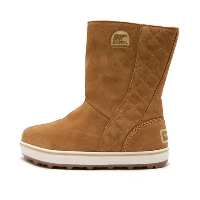 SOREL ソレル レディース ブーツ GLACY グレイシー ELK NL1975-286 [ブラウン/ウィンターブーツ/ボア/スエード/防寒/防水/梨花/雪/長靴/国内正規販売店]