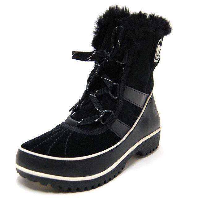 SOREL ソレル レディース ブーツ TIVOLI II SUEDE ティボリIIスウェード BLACK NL2089-010 [ブラック/ウィンターブーツ/ボア/スエード/ヒール/防寒/防水/国内正規販売店]