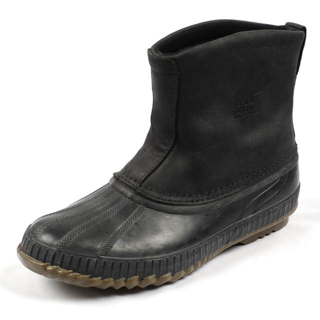 SOREL ソレル メンズ ブーツ CHEYANNE PREMIUM シャイアンプレミアム BLACK NM1562-010 ウィンターブーツ/レザー/ボア/防寒/防水/ラバー/雪国/長靴/国内正規販売店/雪かき