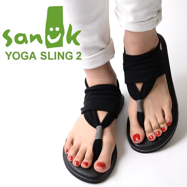 Sanuk サヌーク レディース サンダル YOGA SLING 2 ヨガスリング2 ブラック SWS10001-BLK [ストラップ/ヨガマット/国内正規販売店]
