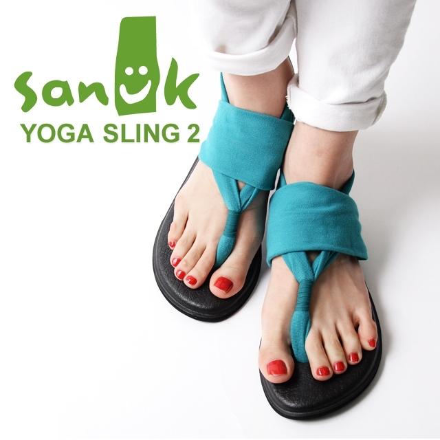 Sanuk サヌーク レディース サンダル YOGA SLING 2 ヨガスリング2 ティール SWS10001-TEAL [ストラップ/ヨガマット/国内正規販売店/ブルー]