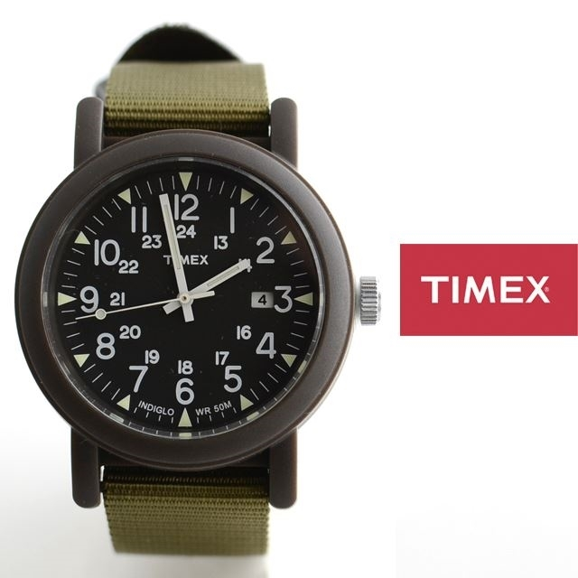 TIMEXタイメックスミリタリーOVER-SIZECAMPERオーバーサイズキャンパーアーミー腕時計定番モデルT2N363【男性用/女性用】
