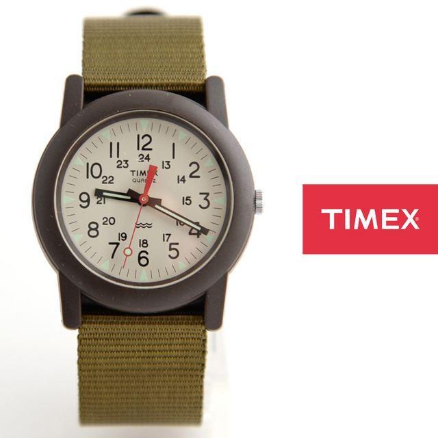 TIMEXタイメックスミリタリーチビミリアーミー腕時計Camper定番モデルTW2P598【男性用/女性用/アイボリー文字盤】