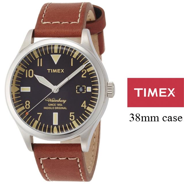 TIMEX タイメックス メンズ レディース 腕時計 Waterbury Red Wing Shoe Leather 38mm ウォーターベリー レッドウィングシューレザー TW2P84600 [コラボ/5気圧防水/インディグロナイトライト/国内正規販売店/Authorized Dealer]