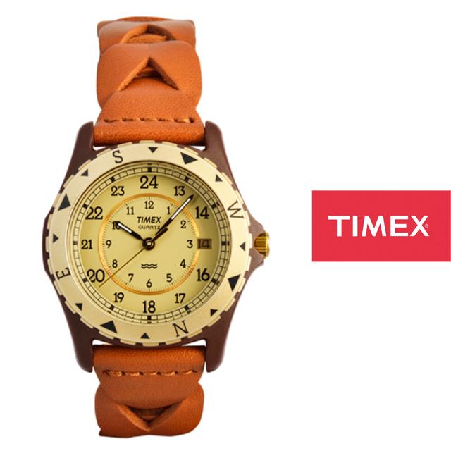 TIMEX タイメックス メンズ レディース 腕時計 SAFARI サファリ TW2P88300 [レザー/復刻モデル/ブラウン/デイト/3気圧防水/トム・クルーズ/7月4日に生まれて/国内正規販売店/Authorized Dealer]