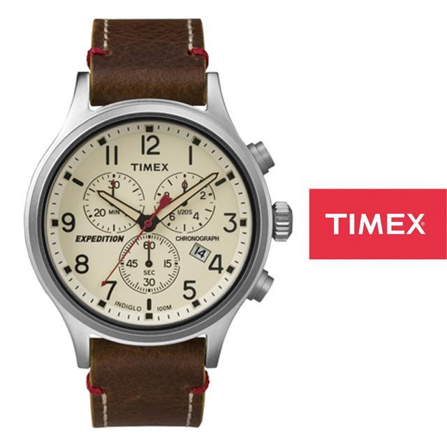 TIMEX タイメックス メンズ レディース 腕時計 エクスペディション スカウトメタルクロノ TW4B04300 [ブラウン/革ベルト/レザーベルト]