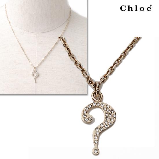 Chloe クロエ アクセサリー ネックレス ライトゴールド 2O0354-AG7-097【新品】【送料無料】