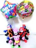 誕生日祝・バルーンギフト「仮面ライダー・エグゼイド バルーン&バルーンアート・バースデー」バルーン電報になります。