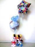 オリックス・バッファローズ・結婚祝・バッファローベル・ブル・開店祝・誕生祝「送料無料ベースボール・バッファロー お祝バルーン」