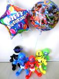 誕生日祝・バルーンギフト「宇宙戦隊キュウレンジャー バルーン&バルーンアート・バースデー」バルーン電報になります。