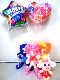 誕生日祝・バルーンギフト「プリキュア・アラモードバルーン&バルーンアート・バースデー」バルーン電報になります。