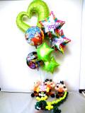 入学祝・入園祝・卒園祝・誕生祝・七五三・バルーンギフト「DXドラゴンボール&魔人ブウ・お祝バルーン&バルーンアート」