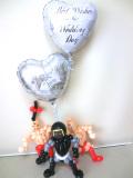 キン肉マン・ウォーズマン・ラーメンマン・結婚式・祝電・バルーンギフト「3人の超人のプロレス 結婚祝バルーン」