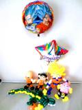 入学祝・入園祝・卒園祝・七五三祝・発表会「スーパーサイヤ人・ドラゴンボールお祝 バルーン&バルーンアート」