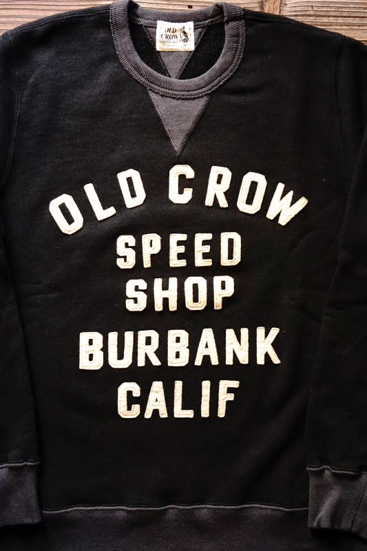 OLD CROW MOTORCYCLE - SWEAT BLACK