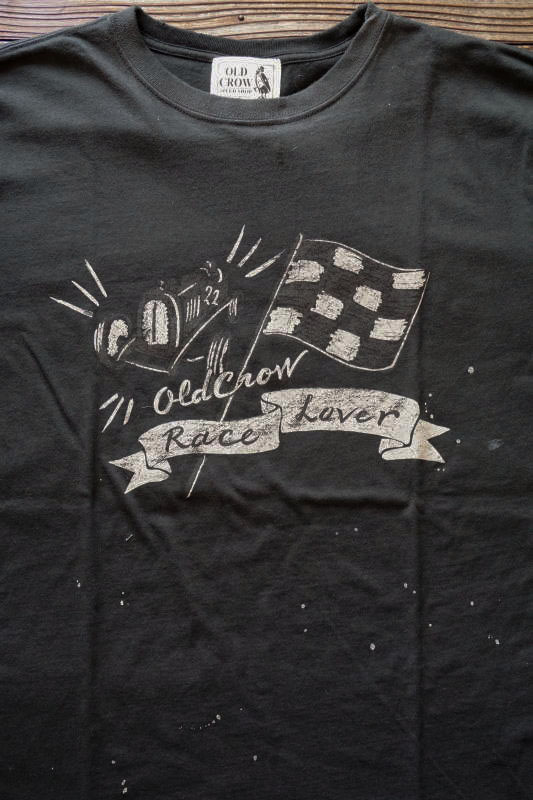 OLD CROW RACE LOVER - S/S T-SHIRTS BLACK