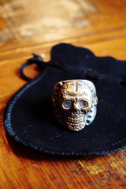B.S.M.G. B.O. Skull Ring Silver