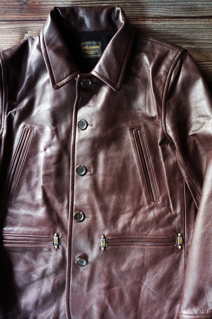 BY GLAD HAND 50'S CAR COAT BROWN