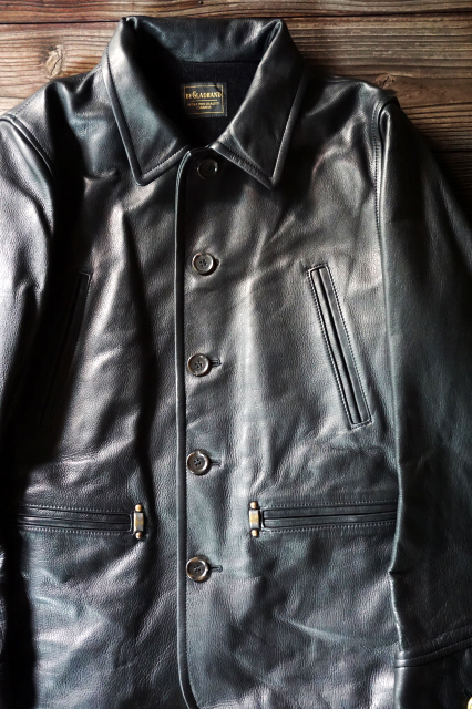 BY GLAD HAND 50'S CAR COAT BLACK