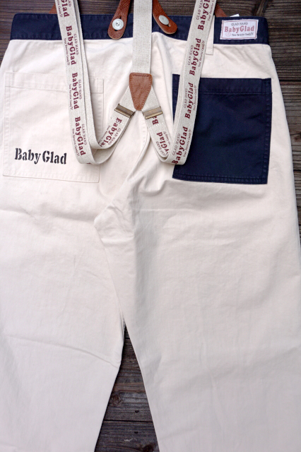 BY GLAD HAND CANDY PANTS サスペンダーSET  IVR×NVY