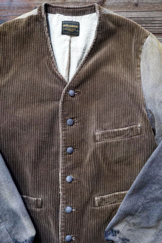 BY GLAD HAND MIGRANT - NO COLLAR JACKET BROWN USED
