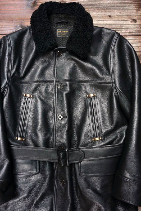 """BY GLAD HAND GOODTIME """"COW HIDE"""" BLACK"""