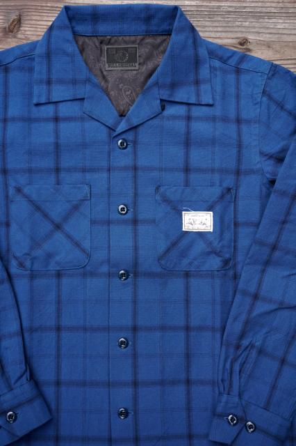B.S.M.G. CHECK SH - LS BLUE
